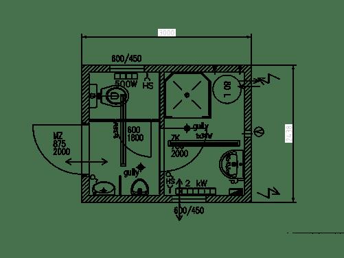 Sanitärcontainer Kombi mit WC & Dusche