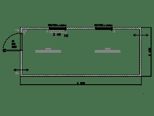 Büro-Container mit 2 Fenstern 20-Fuss Typ-IM-04