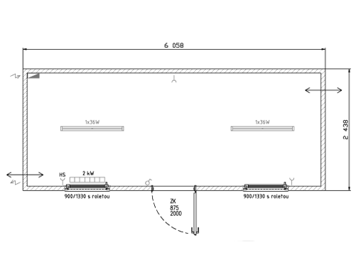 Bürocontainer Standardausführung