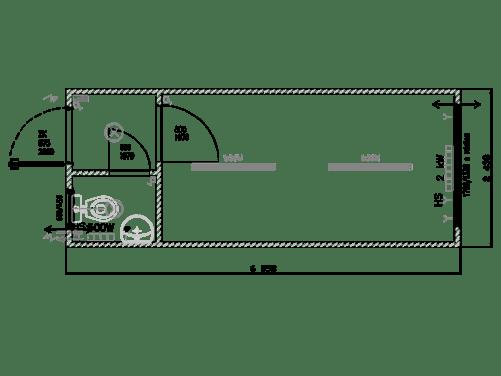 Bürocontainer mit WC mieten
