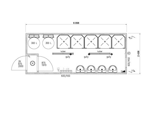 Duschcontainer 20 Fuss
