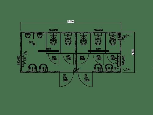 Toirlettencontainer 20 Fuß