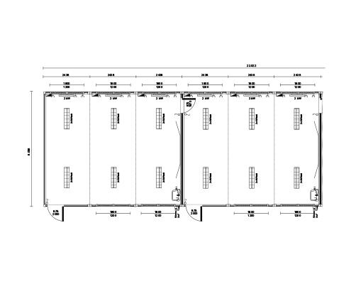 Grundriss Container Schule - Klassenzimmer