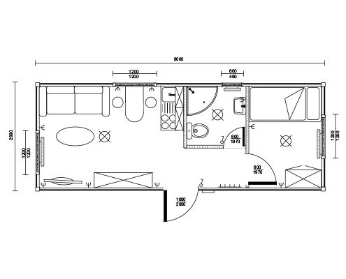 Wohncontainer Minihaus