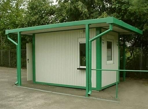Kassenhaus als Containerlösung mit WC