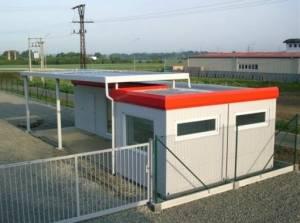 kassen als Container-lösung mit Vordach