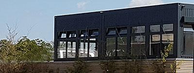 Dachaufstockung Bürocontainer