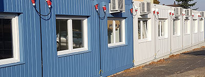 Klimaanlagen Kindergarten Containeranlage